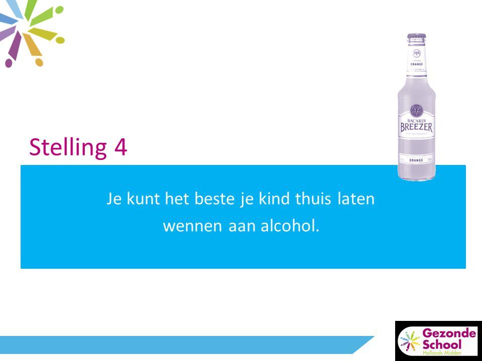 Stelling 4 Je kunt het beste je kind thuis laten wennen aan alcohol.