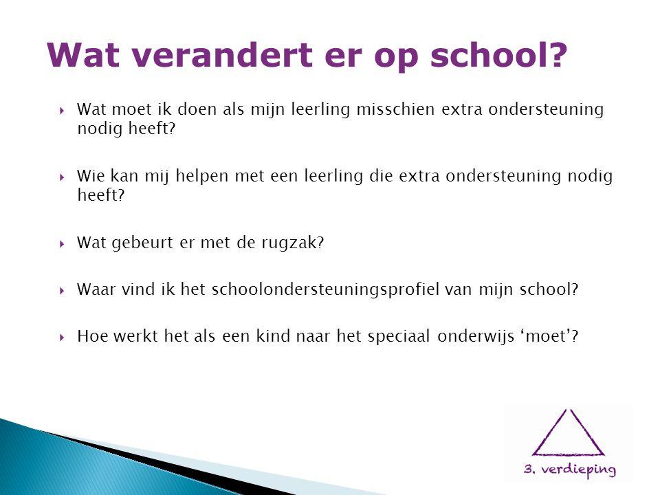  Wat moet ik doen als mijn leerling misschien extra ondersteuning nodig heeft?  Wie kan mij helpen met een leerling die extra ondersteuning nodig he