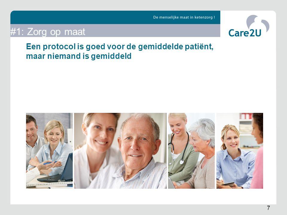 Een protocol is goed voor de gemiddelde patiënt, maar niemand is gemiddeld 7 #1: Zorg op maat