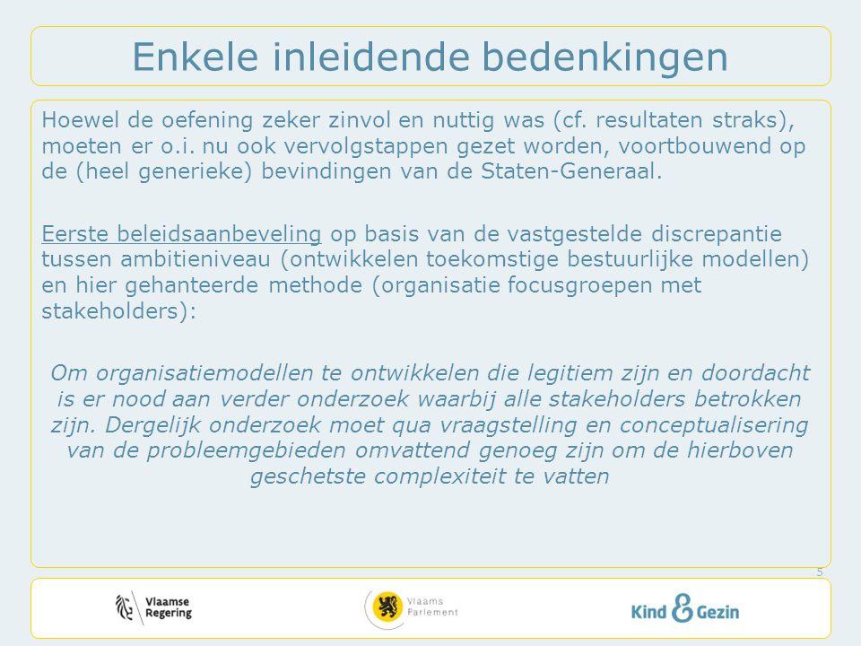 Principe: rekening houden met lokale diversiteit – Impliceert lokale autonomie om te coördineren (lokaal bestuur of andere actor) – Binnen het normatief kader dat Vlaamse overheid oplegt (cf.