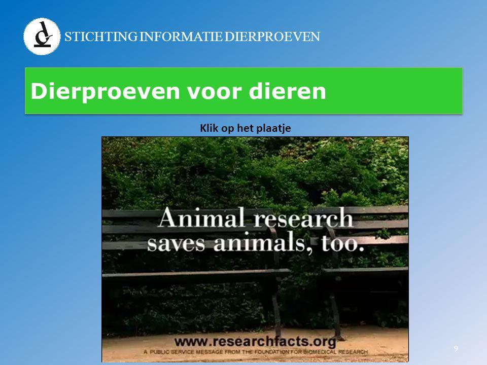 STICHTING INFORMATIE DIERPROEVEN Dierproeven voor dieren 9 Klik op het plaatje