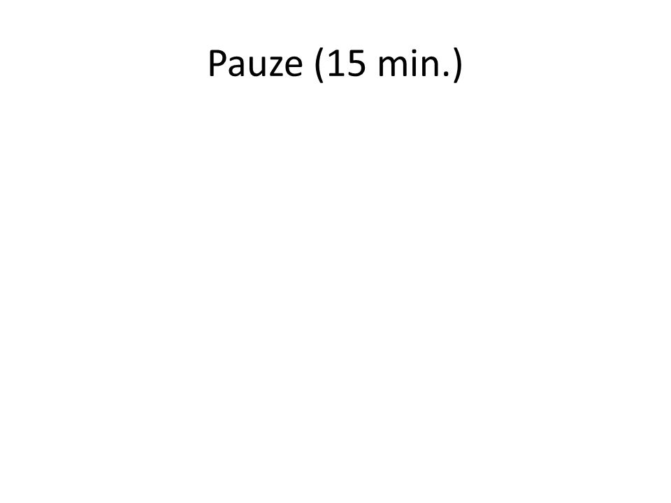 Pauze (15 min.)
