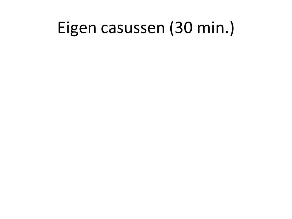 Eigen casussen (30 min.)