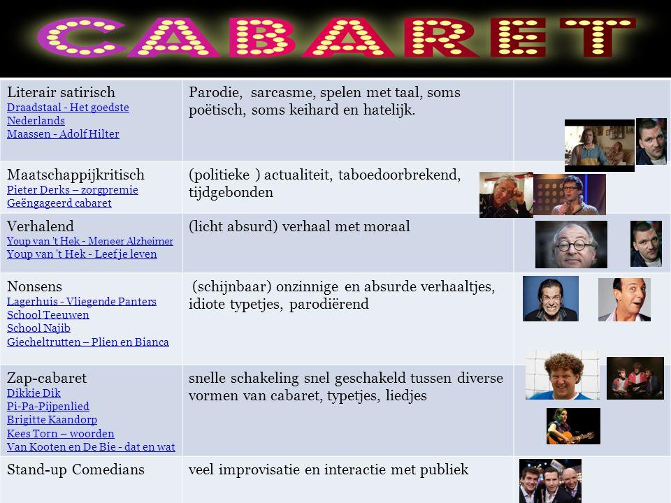 Literair satirisch Draadstaal - Het goedste Nederlands Maassen - Adolf Hilter Parodie, sarcasme, spelen met taal, soms poëtisch, soms keihard en hatelijk.