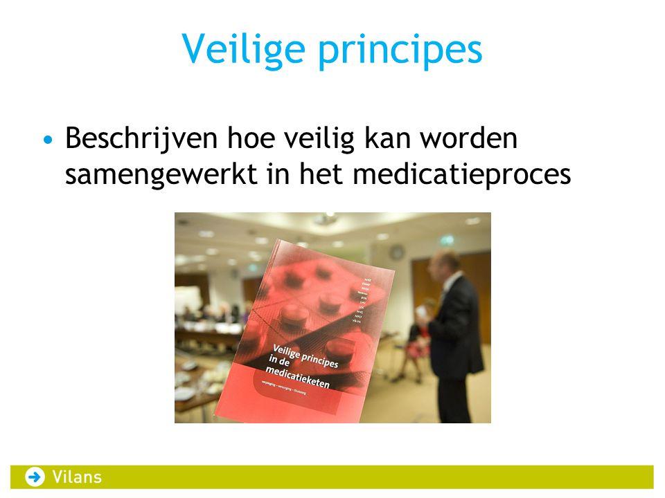 Veilige principes •Beschrijven hoe veilig kan worden samengewerkt in het medicatieproces