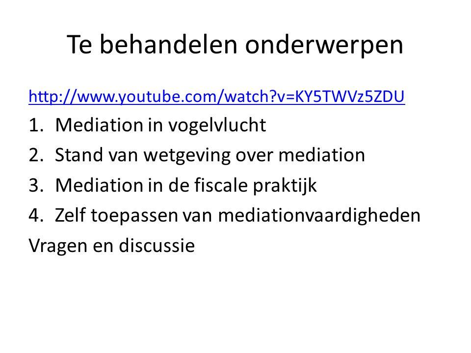 Deel 1 Mediation in vogelvlucht • Hoe ontstaan conflicten.