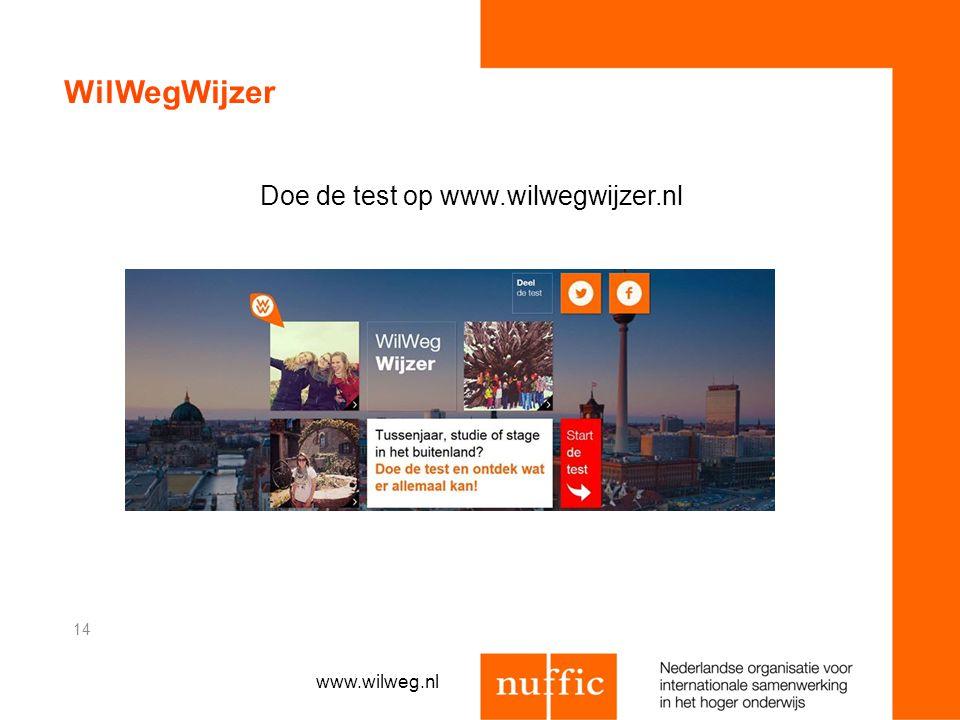 WilWegWijzer Doe de test op www.wilwegwijzer.nl 14 www.wilweg.nl