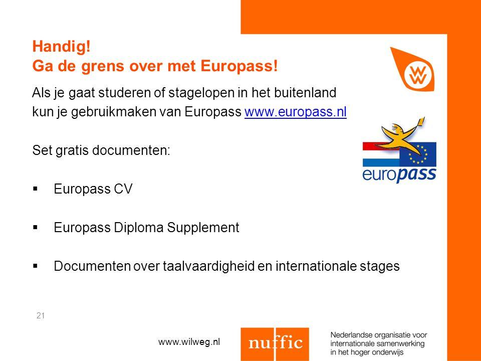 Handig! Ga de grens over met Europass! Als je gaat studeren of stagelopen in het buitenland kun je gebruikmaken van Europass www.europass.nlwww.europa