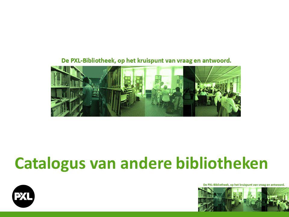 Catalogus van andere bibliotheken