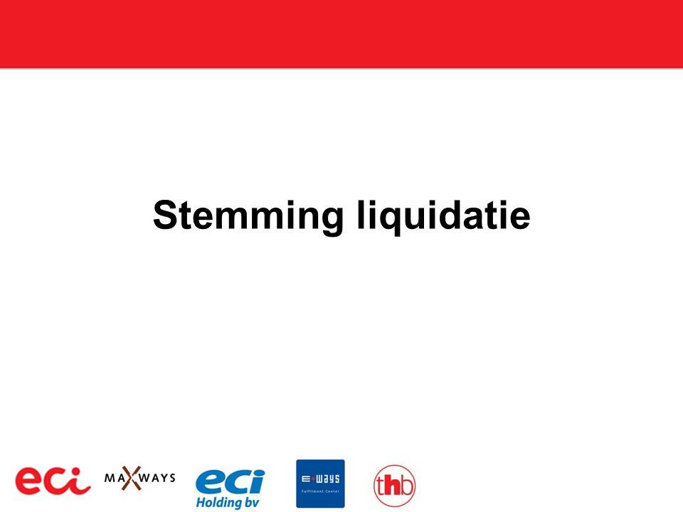 Stemming liquidatie