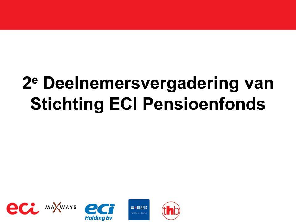 2 e Deelnemersvergadering van Stichting ECI Pensioenfonds