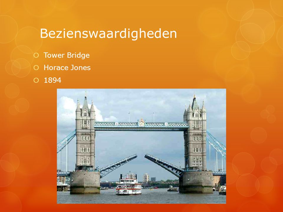Bezienswaardigheden  Tower Bridge  Horace Jones  1894