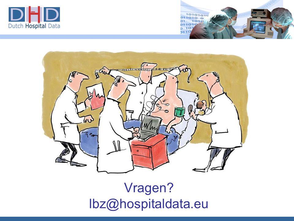 Vragen? lbz@hospitaldata.eu
