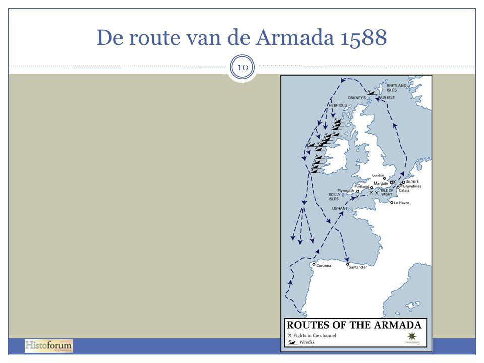 De route van de Armada 1588 10