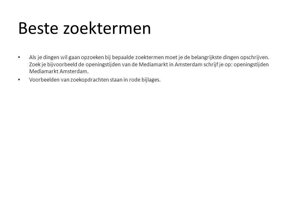 Zoektips • Zoektip 1: Google in het Engels of Nederlands.