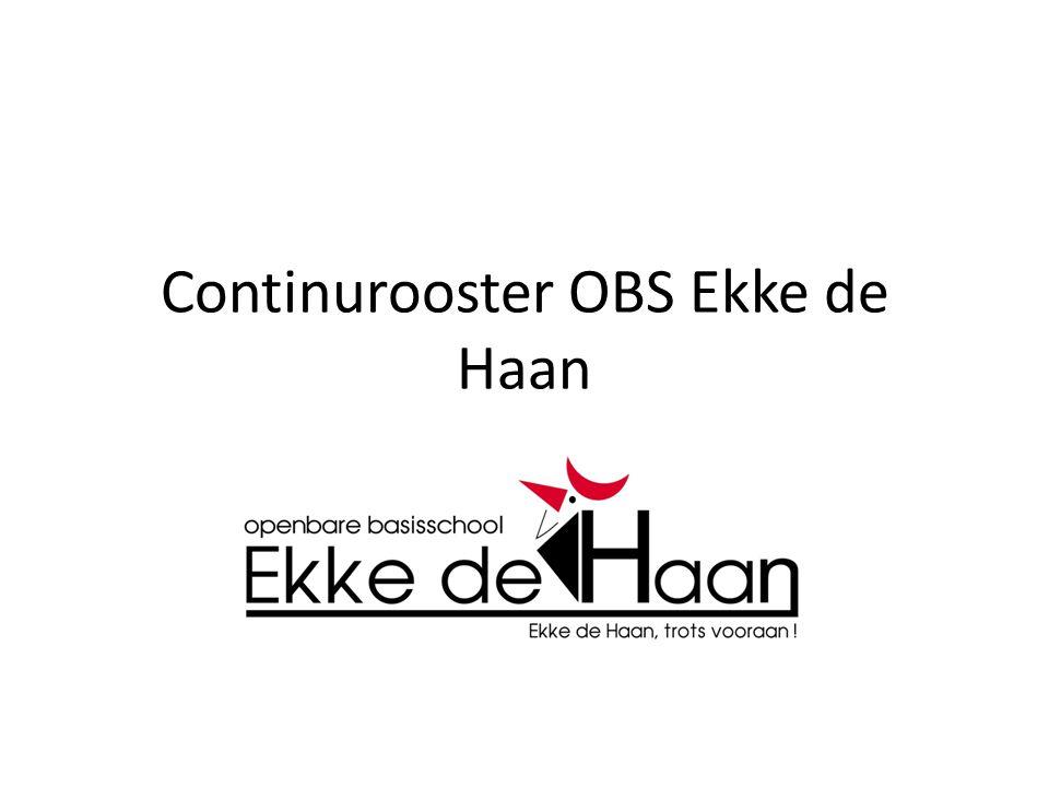 Continurooster OBS Ekke de Haan
