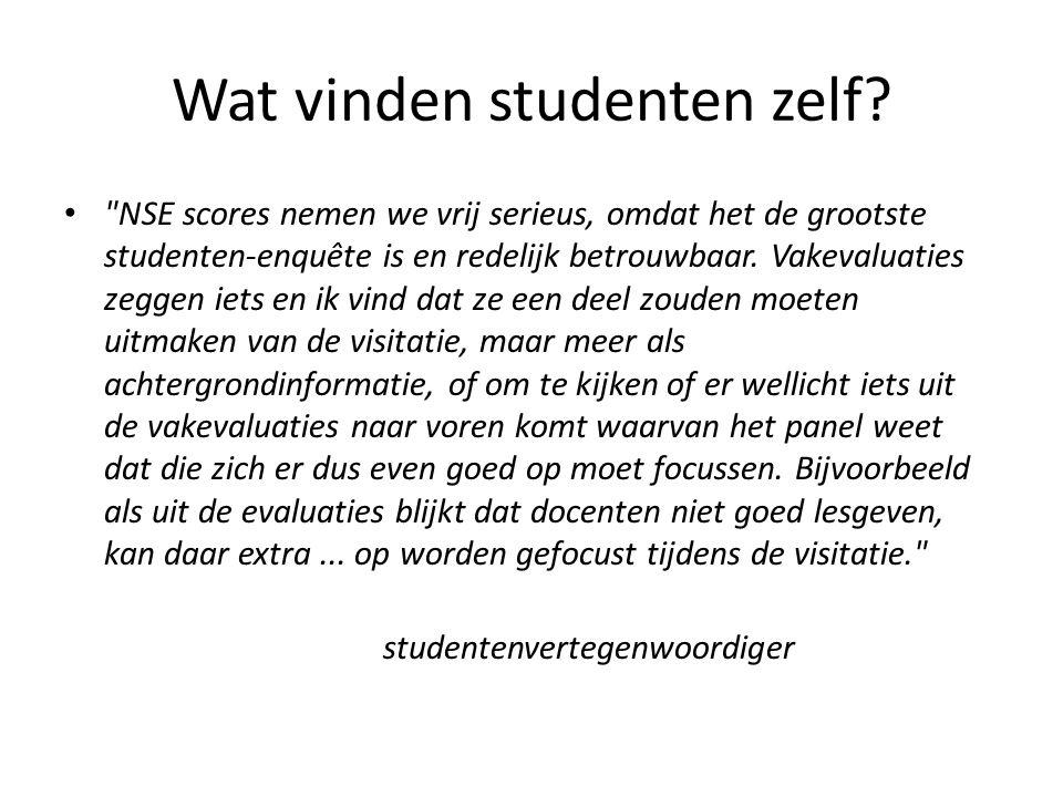Wat vinden studenten zelf? •
