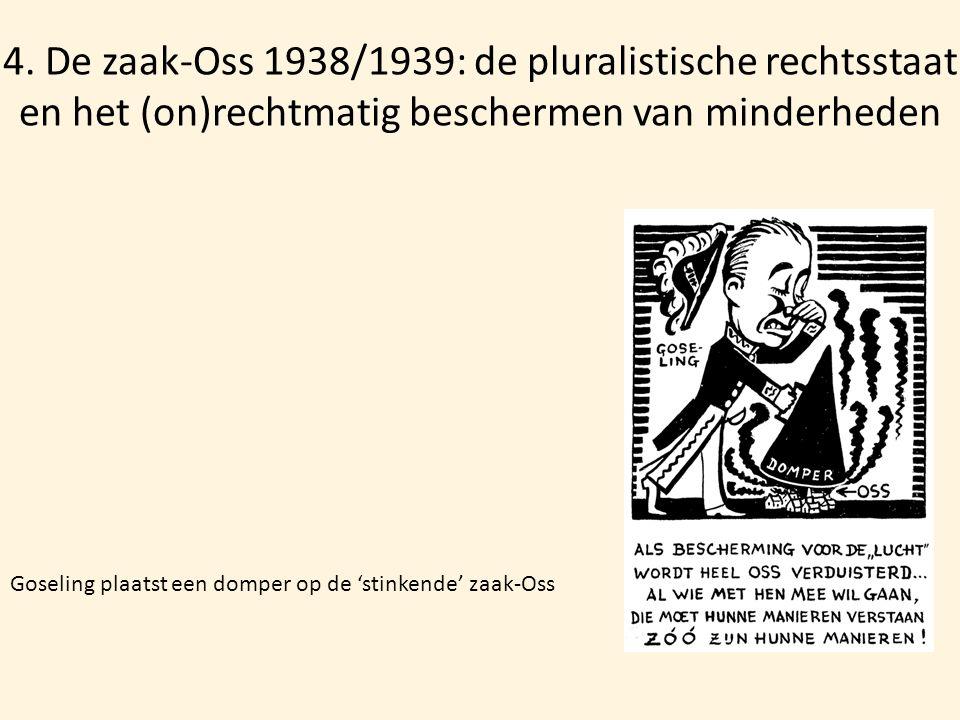 4. De zaak-Oss 1938/1939: de pluralistische rechtsstaat en het (on)rechtmatig beschermen van minderheden Goseling plaatst een domper op de 'stinkende'
