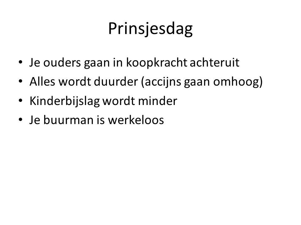 Prinsjesdag • Filmpje:www.rijksoverheid.nl/onderwerpen prinsjesdag • Lees het krantenartikel. – Wat merken jullie hiervan? – Wat bedoelen we met een d