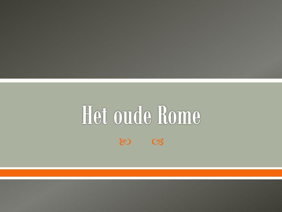  Onder leiding Etrusken ontstaan stad Rome langds de Tiber  Vanaf +/-500 v.ch vrij van Etrusken  Vanaf 275 v.Ch hebben Romeinen heel Italië in handen.