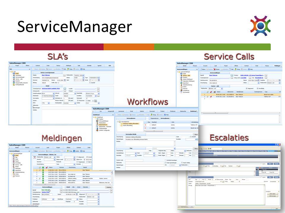 SLA's Service Calls Meldingen Workflows Escalaties
