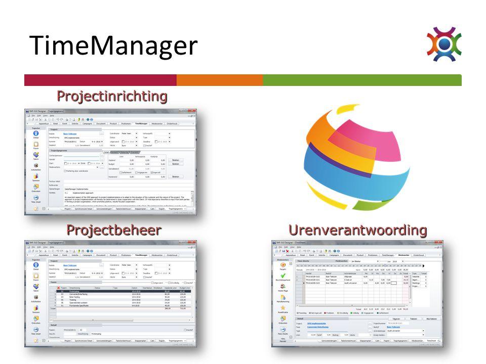 TimeManager Projectinrichting ProjectbeheerUrenverantwoording