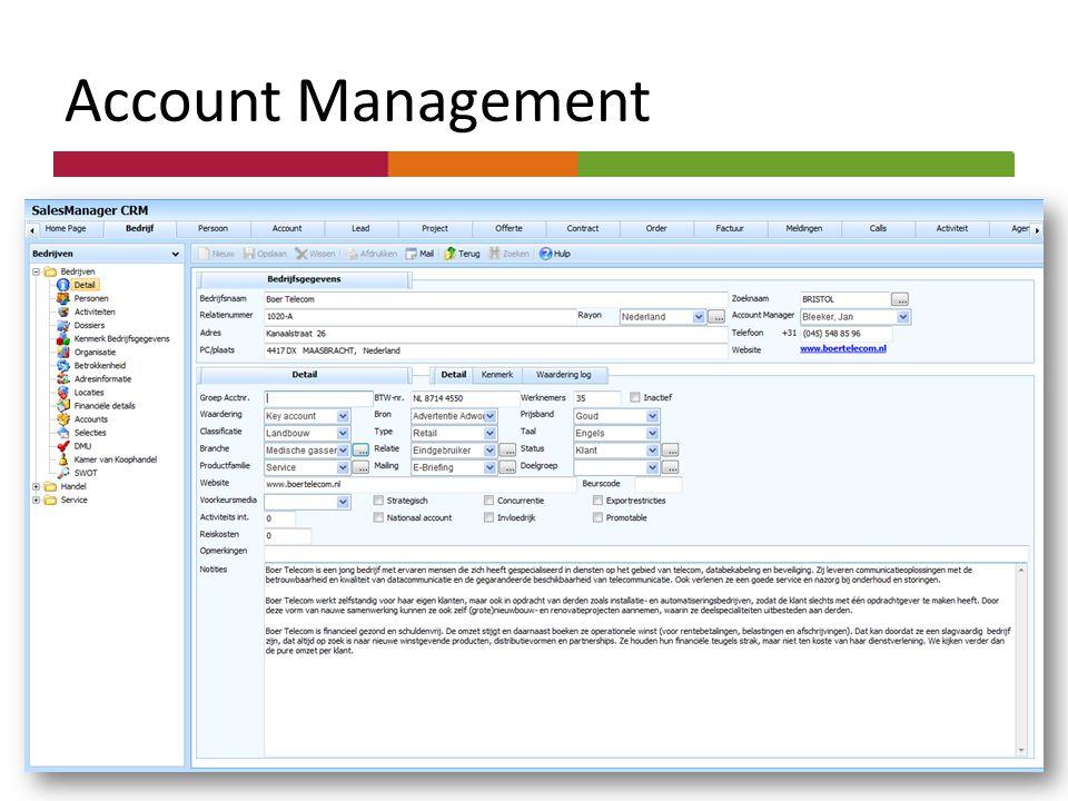 Dashboards Account Management