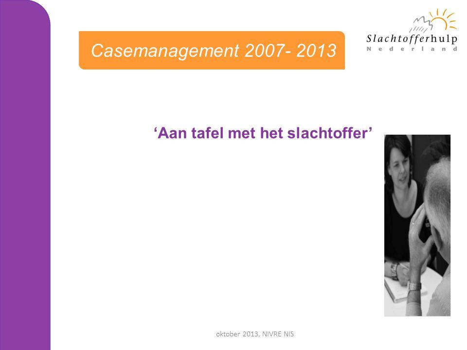 oktober 2013, NIVRE NIS 'Aan tafel met het slachtoffer' Casemanagement 2007- 2013