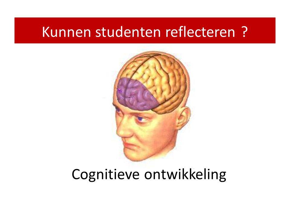 Vragen rond reflectie • Kunnen studenten reflecteren ? • Hoe wordt reflectie zinvol en spannend ? • Welk niveau kun je verwachten en hoe toets je dat