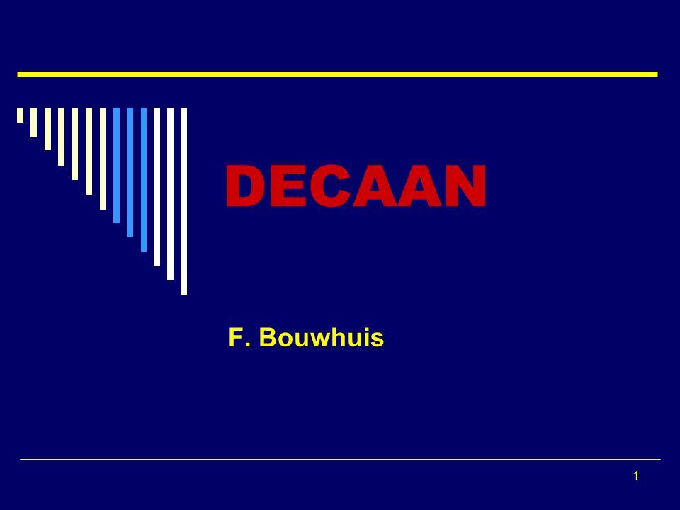 1 DECAAN F. Bouwhuis