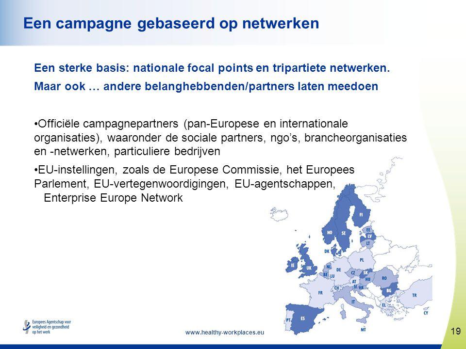 www.healthy-workplaces.eu Een sterke basis: nationale focal points en tripartiete netwerken. Maar ook … andere belanghebbenden/partners laten meedoen