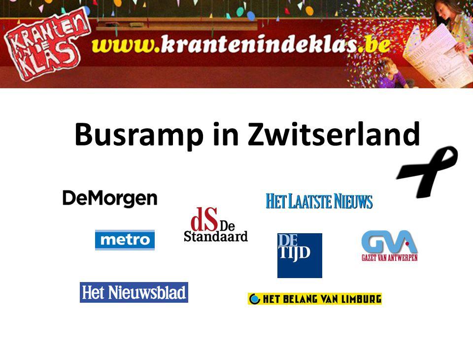 Busramp in Zwitserland