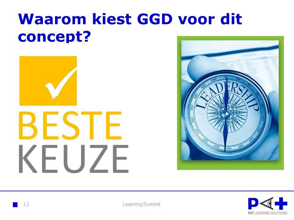 Waarom kiest GGD voor dit concept? 11Learning Summit