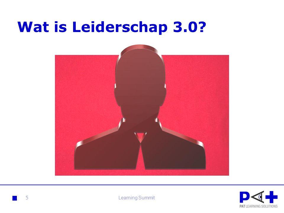 Leiderschap 3.0 Authentiek en dienend leiderschap:  Mensen die vanuit het eigen niveau anderen kunnen aanzetten tot beweging, dat zijn echte leiders.