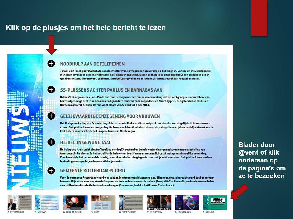 Klik op de plusjes om het hele bericht te lezen Blader door @vent of klik onderaan op de pagina's om ze te bezoeken