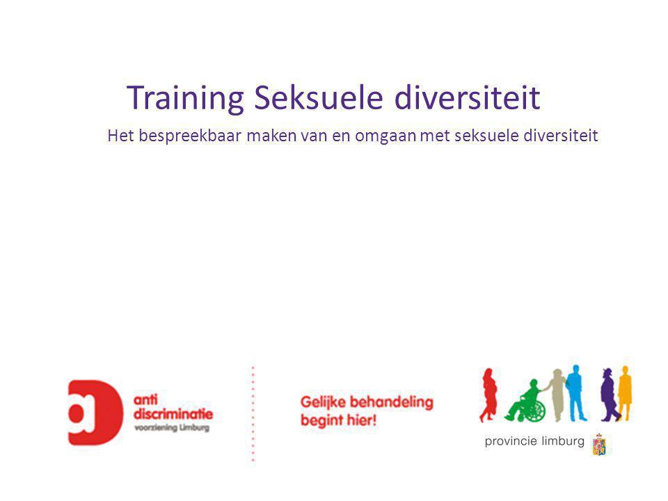 Training Seksuele diversiteit Het bespreekbaar maken van en omgaan met seksuele diversiteit