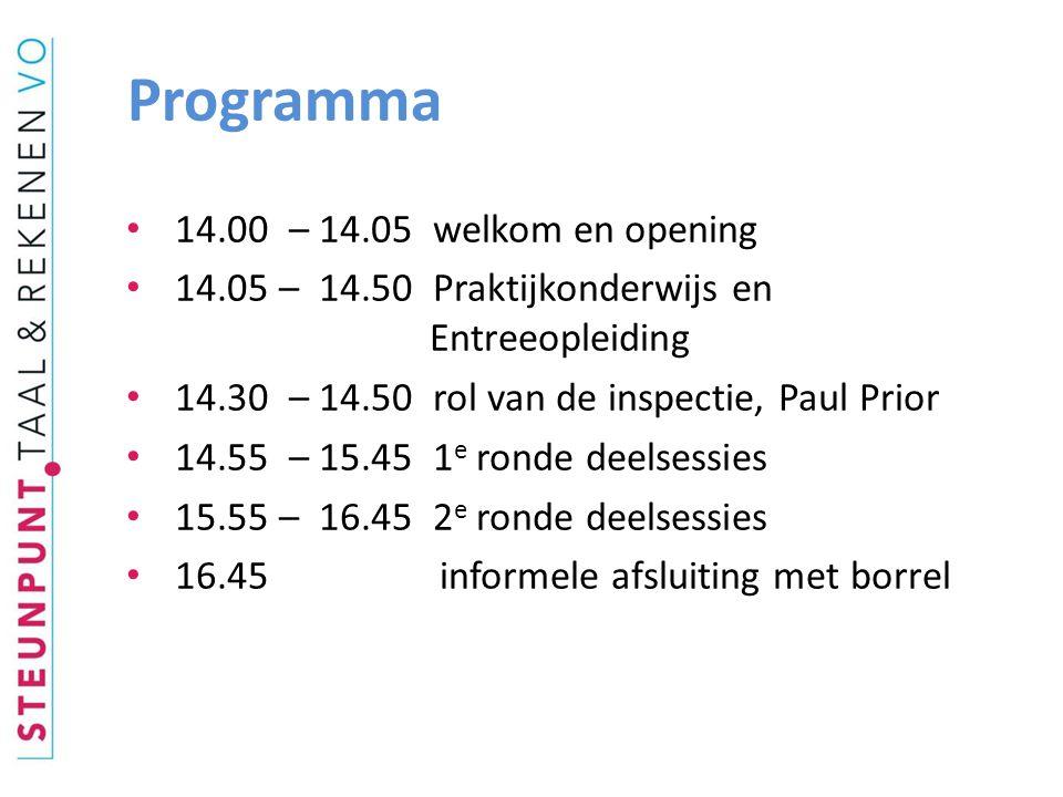 De refentieniveaus Wet aug. 2010, ook voor het praktijkonderwijs: 1F als streefniveau!