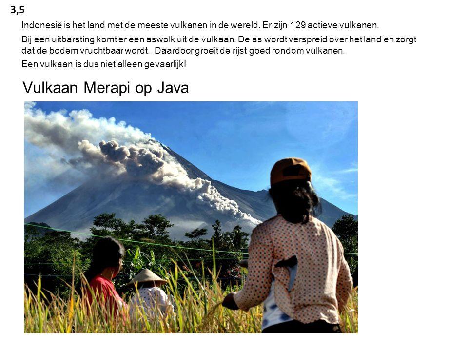 Indonesië is het land met de meeste vulkanen in de wereld.