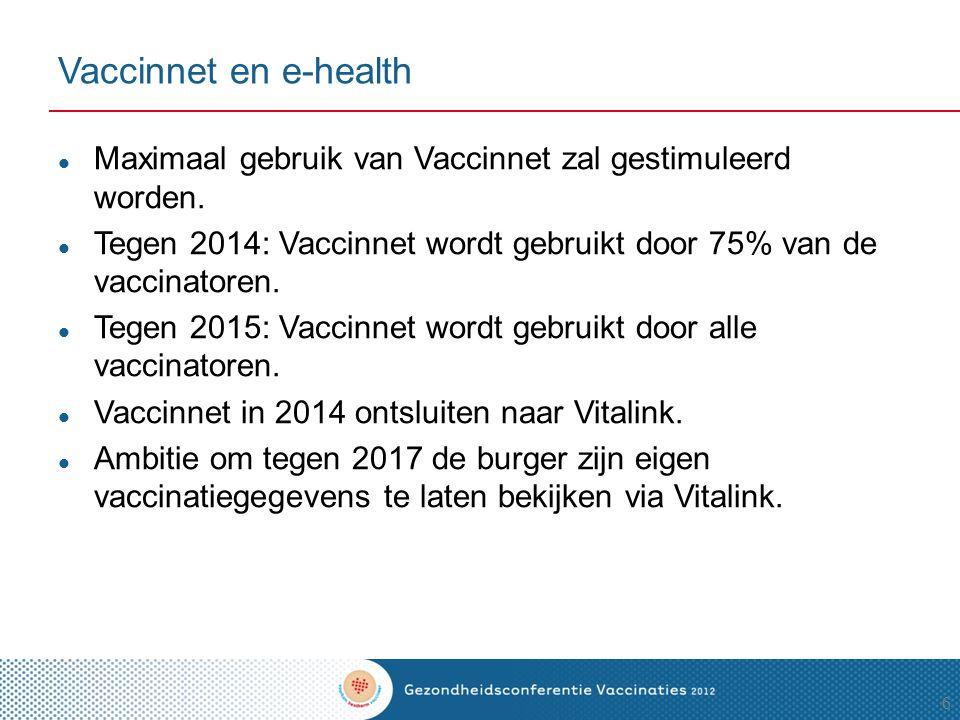 Acties bij subdoelstelling 4  Opstellen richtlijnen  Verspreiden van de richtlijnen  Vaccinatoren  Andere gezondheidsprofessionelen  Reissector  Charter opstellen met de reissector 17
