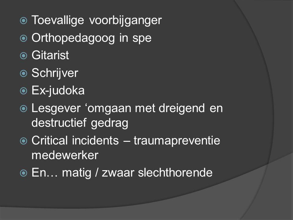 Als mens  Student UGent ( pedagogische wetenschappen )  Sociotherapeut forensische psychiatrie  Verloofde  Broer  Neef  Nonkel  Buur  Vriend 