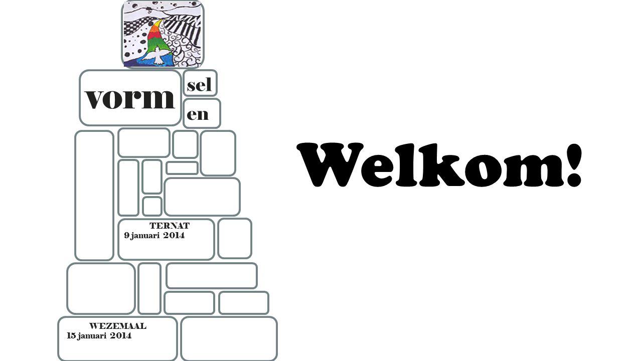 TERNAT 9 januari 2014 WEZEMAAL 15 januari 2014 vorm en sel Welkom!