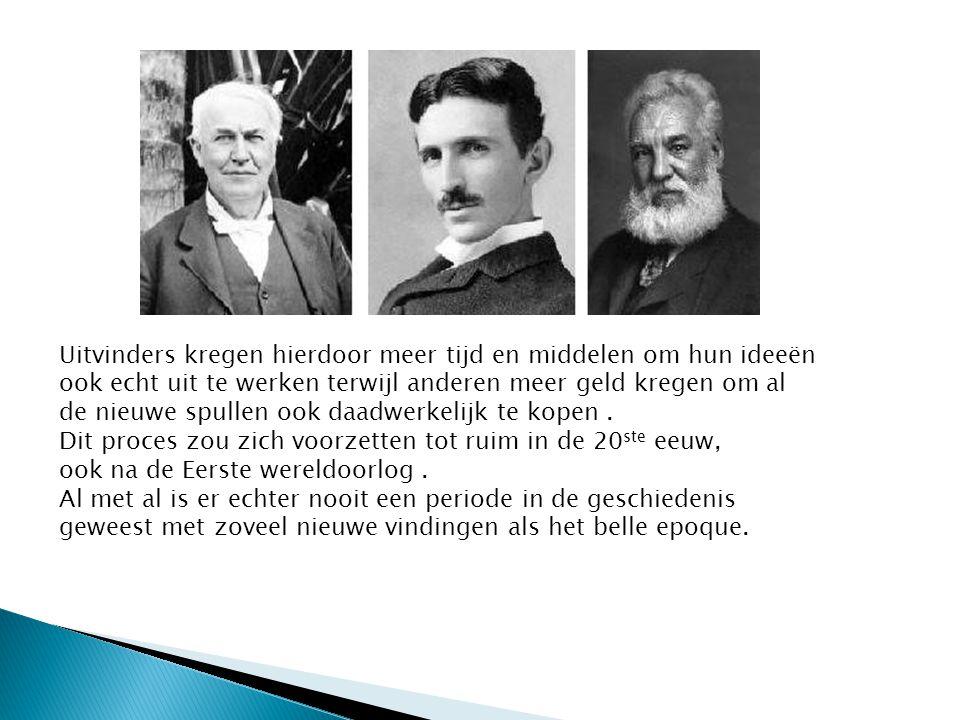 Uitvinders kregen hierdoor meer tijd en middelen om hun ideeën ook echt uit te werken terwijl anderen meer geld kregen om al de nieuwe spullen ook daa
