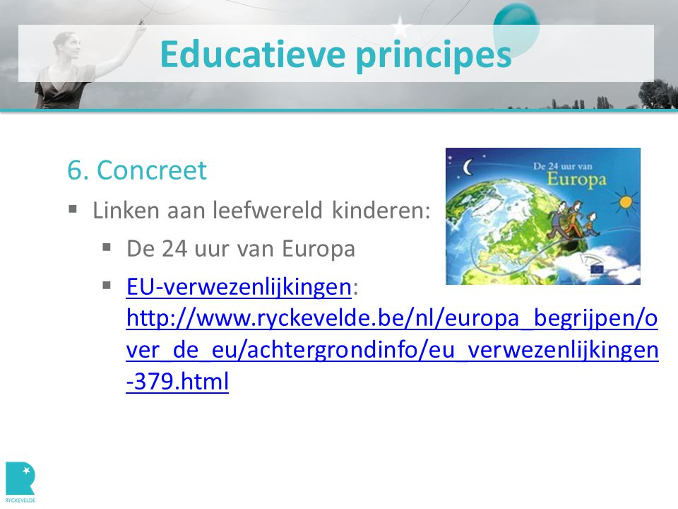 Educatieve principes 6.