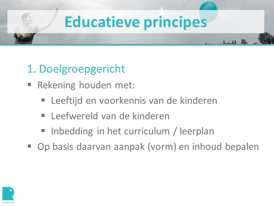 Educatieve principes 1.