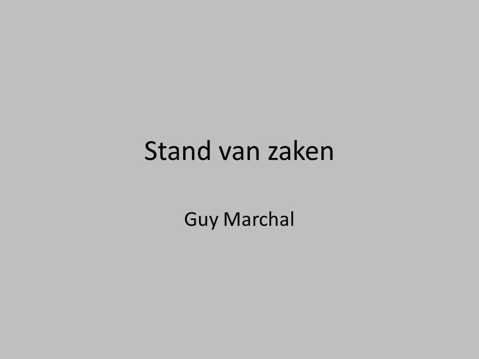Stand van zaken Guy Marchal