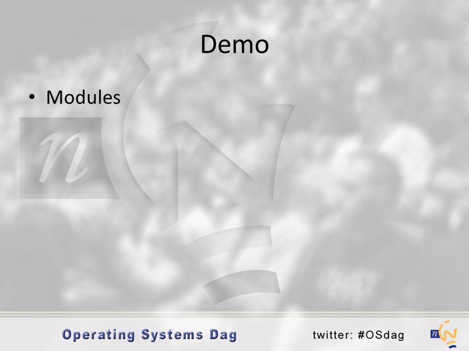 Demo • Modules