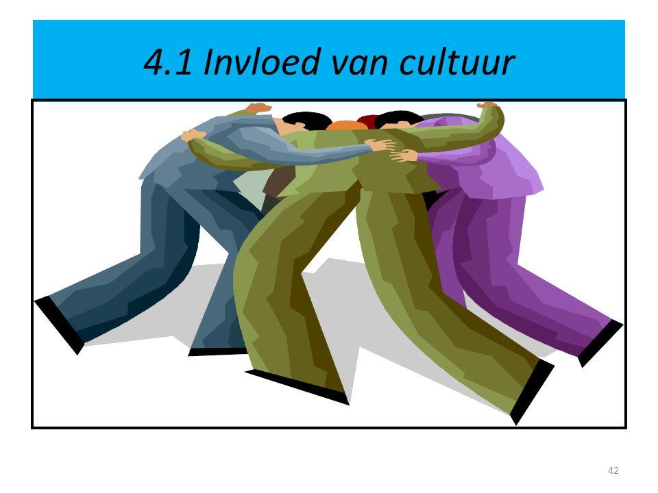 4.1 Invloed van cultuur 42