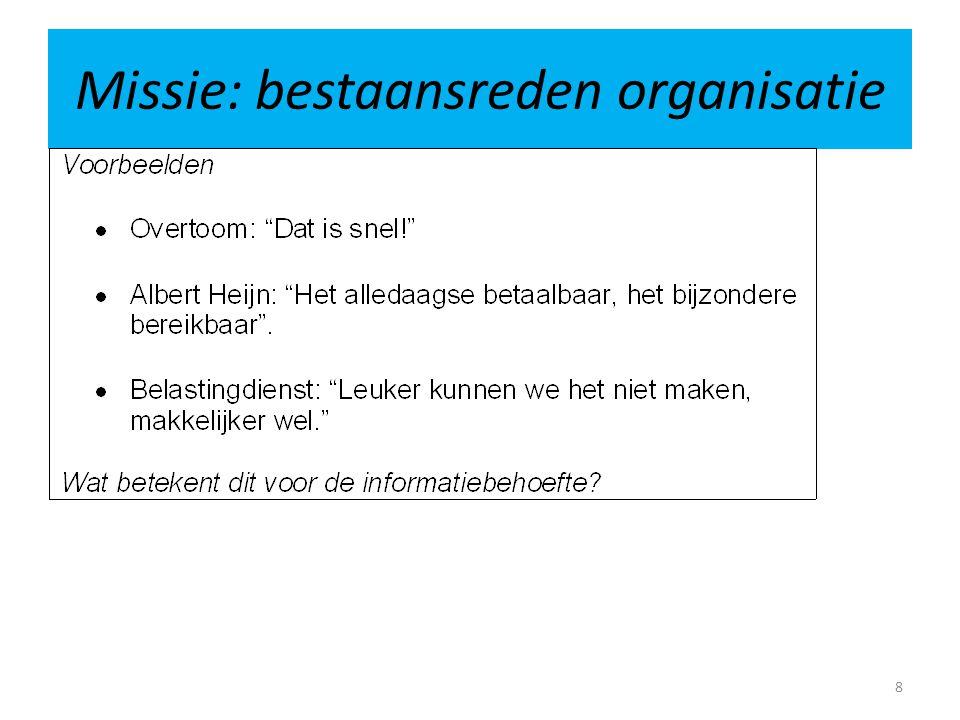 Management informatie betrouwbaarheidstype handelsbedrijf Bijvoorbeeld: • brutomarges per artikelgroep • omloopsnelheden van de voorraden • kasverschillen • voorraadverschillen 19