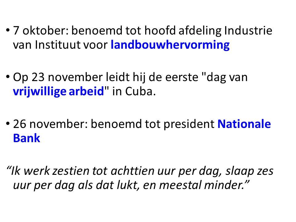 • 7 oktober: benoemd tot hoofd afdeling Industrie van Instituut voor landbouwhervorming • Op 23 november leidt hij de eerste