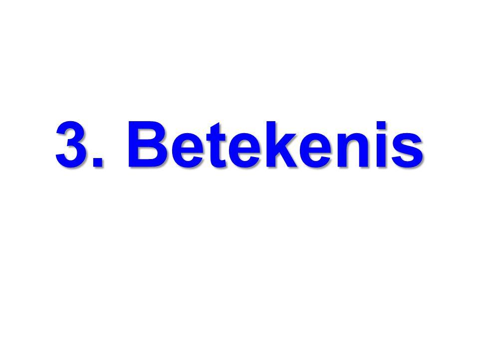 3. Betekenis